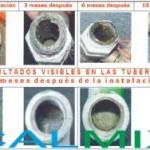 Resultados visibles, eliminacion de la cal en sus tuberias